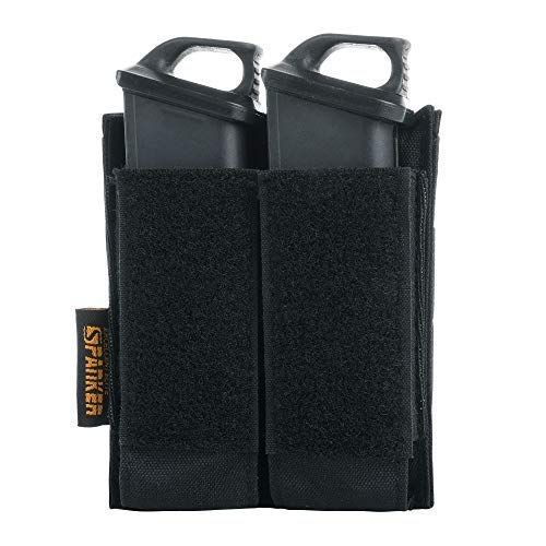 EXCELLENT ELITE SPANKER Tactical Open Top Double/Triple Pistol Mag Pouch for Glock M1911 92F Magazines 40mm Grenade(BLK)