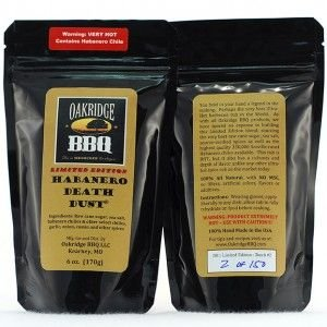 Oakridge Signature Edition Habanero Death Dust - 6 oz (Habanero Rub)