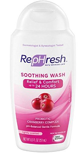RepHresh Soothing Feminine Wash, 8.5oz Bottle (Pack of 3) - Rephresh Clean Balance