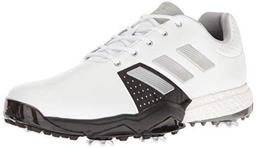 adidas Men's Adipower Boost 3 WD Golf Shoe, White/Silver Metallic/Black, 10 W US