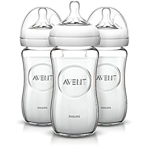Philips AVENT Natural Glass Bottle 8 Ounce Pack of 3 by Philips AVENT