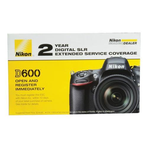 Nikon 2 Year Extended Service Coverage Agreement for the D600 Digital SLR Cameras