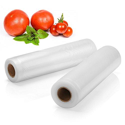 4 Pack 8'' x 16' Vacuum Sealer Rolls, Commercial Grade Food Sealer Bags for FoodSaver and Sous Vide by PAPRMA