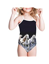 Showudesigns Girls One Piece Swimwear 3D Animal Kids Bathing Suit 3Y-8Y