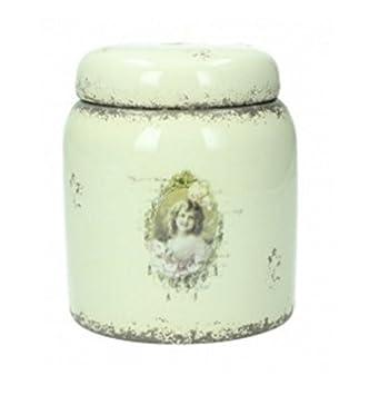 Vorratsdosen Keramik Landhaus vorratsdose creme shabby ivory keramik teedose vintage dose küche