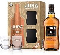 Jura 10 Years Old Single Malt Scotch Whisky (1 x 0.7 L) con 2 vasos