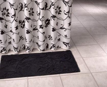 Tende Da Doccia In Lino : Tenda doccia in tessuto barocco nero bianco cm amazon