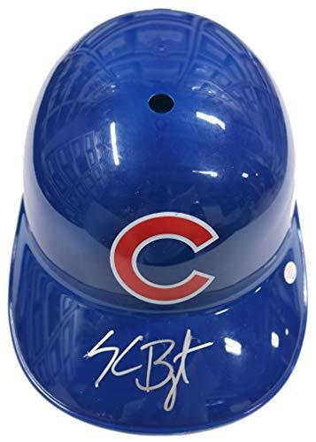 Chicago Cubs Autographed Helmets - Kris Bryant Chicago Cubs Signed Autographed Rawlings Full Size Souvenir Replica Batting Helmet PAAS COA