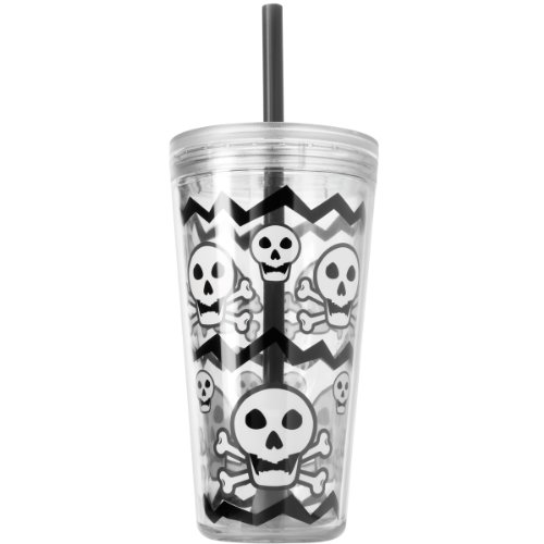 Alabama Bottle Insulated (Copco Minimus Tumbler with Straw, 24-Ounce, Skull Gray)