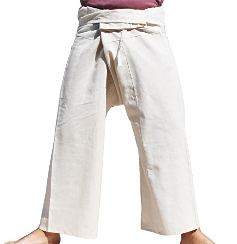 RaanPahMuang-High-Grade-Chinese-55-Hemp-45-Cotton-Thai-Fisherman-Wrap-Pants-Tall