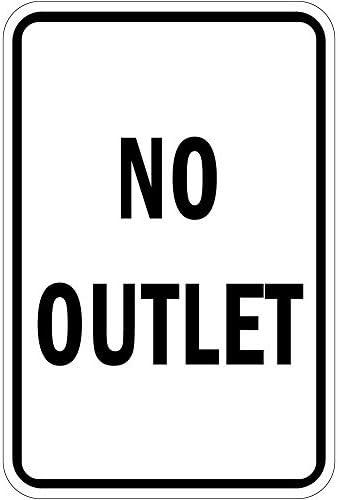 No Outlet Decoración del hogar signo cartel de metal para exterior Patio señal de seguridad: Amazon.es: Jardín