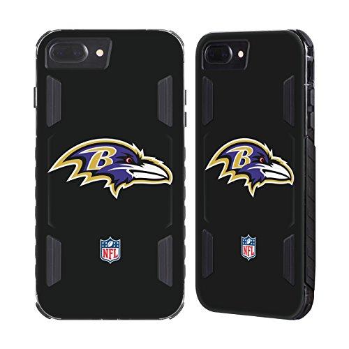 Official NFL Plain Baltimore Ravens Logo Black Evolution Case for Apple iPhone 7 Plus / iPhone 8 (Baltimore Ravens Case)