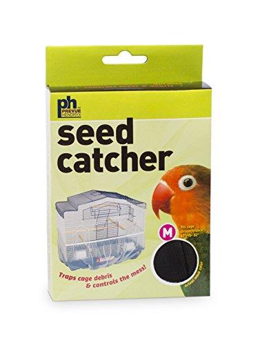 Bird Medium (Prevue Pet Products 821B Mesh Bird Seed Catcher, Black, Medium/8