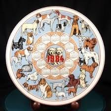 Wedgwood Calendar Plate 1984 Dogs Bnib Uk Made Retired