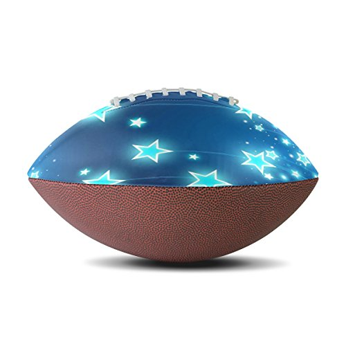 TJDY Stars And Sparkles Wallpaper Pattern Customization PU Match Rugby Balls - All Black Rugby Wallpaper
