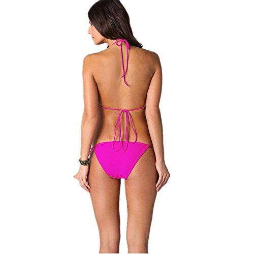 o-c macramé de la mujer Bikini Sets Rojo