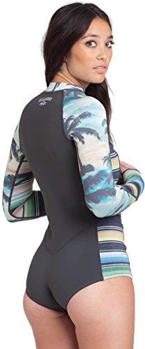 Billabong Women's Salty Daze Long Sleeve Spring Suit, Palm, 2