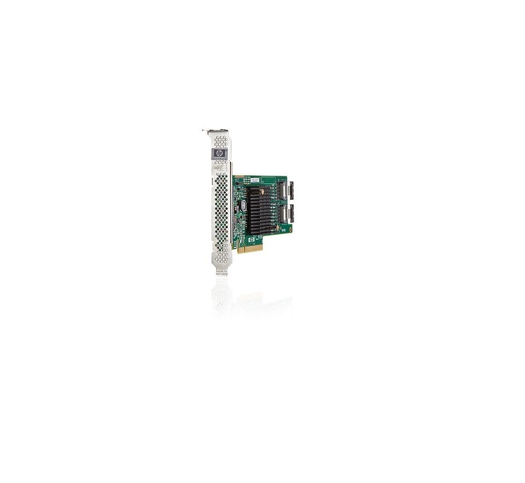 HP 660088-001 H220 SAS host bus adapter PC board, PCIe 3.0 low profile - Has two internal x4 mini-SAS connectors, 6Gb/sec transfer rate, up to 42TB SAS or 42TB SATA capacity