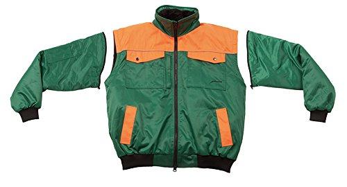 4 Arancione 3xl Verde in 1 pilota Giacca B7w5f