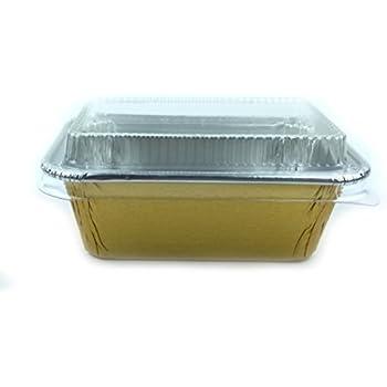 Amazon Com Disposable Foil 4 Quot Gold Mini Loaf Pans Mini