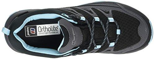 Berghaus Explorer Active, Zapatos de Low Rise Senderismo Para Mujer Multicolor (Dark Grey/Angel Blue Z47)