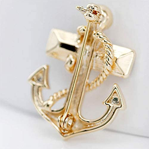 Jounkal Anchor Corsage Brooch Pin Clear Scarf Clips Bridal