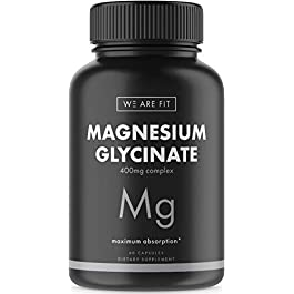Magnesium Glycinate 525 mg Elemental Complex -125% DV High Absorption Bioavailable Supplement to Support Magnesium…
