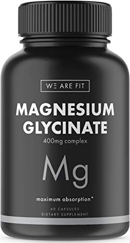 Magnesium Glycinate 400 mg Complex - High Absorption Mag Supplement to Support Magnesium Levels, Muscle Relaxation, Vegan & Non-GMO, 60 Veggie Caps