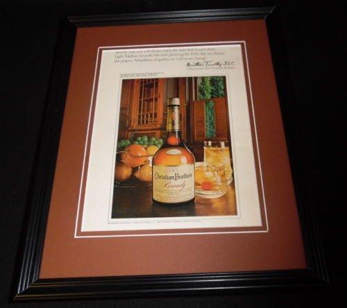 1972 Christian Brothers Brandy Framed ORIGINAL Vintage Advertisement B
