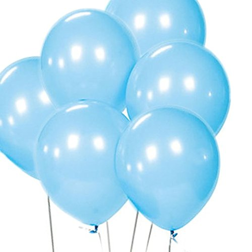 100 light blue balloons - 2