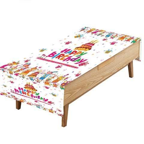 PINAFORE プリント生地 テーブルクロス 誕生日 サンディ パーティーハット プレゼント ブルー ライトブラウン ピンク ピクニック ギャザリング 幅50×長さ80インチ W54