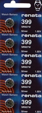 UPC 785618369410, 399 Watch battery - Strip of 5 Batteries