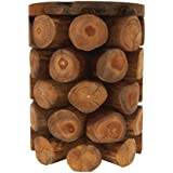 "Deco 79 42022 Teak Wood Log Stool, 14"" x 18"""
