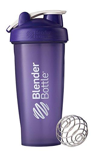 BlenderBottle Classic Loop Top Shaker Bottle, Purple/Purple, 28-Ounce Loop Top
