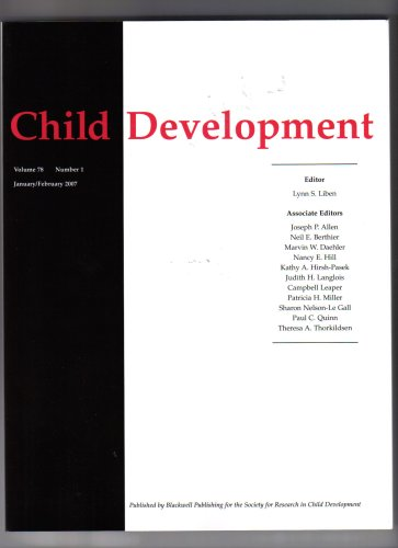 Child Development by Society for Research in Child Development (Volume 78 Number 1 January/February 2007) pdf