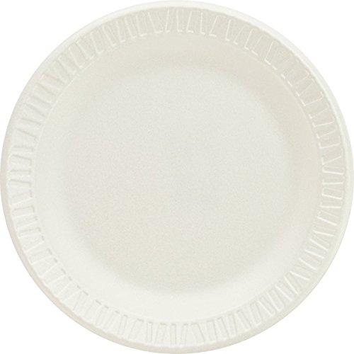 Soak Proof Foam Plates - Dart 6PWCR 6 in White Unlaminated Foam Plate (Case of 1000)