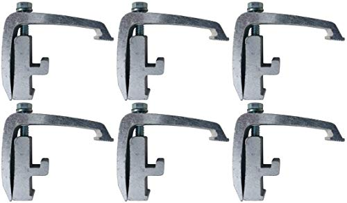 (6 Pack) Silver Toyota Tacoma, Nissan Titan - Mounting Channel Track Truck Topper Cap, Camper Shell ()