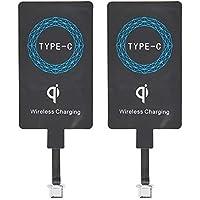 2Pcs Tipo C Qi Receptor de Carga Inalámbrico, Ultra Slim Universal USB-C Inalámbrico del Cargador Módulo Receptor, para…