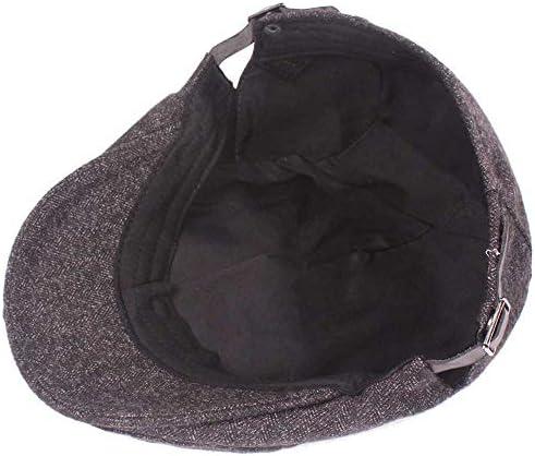 MXLTIANDAO ハンチング帽子 メンズ 帽子 無地 ゴルフ 日よけ 編みウール キャスケット 55-60 cm 帽子