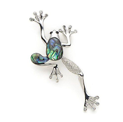 Insect Jewelry Alloy Natural Shell Frog Brooches Women Men Banquet Metal Animal Brooch Pins For Suits Dress Hat Scarf Pins Corsage