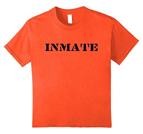 [Kids Jail Inmate T Shirt   12 Orange] (Jail Costume For Kids)