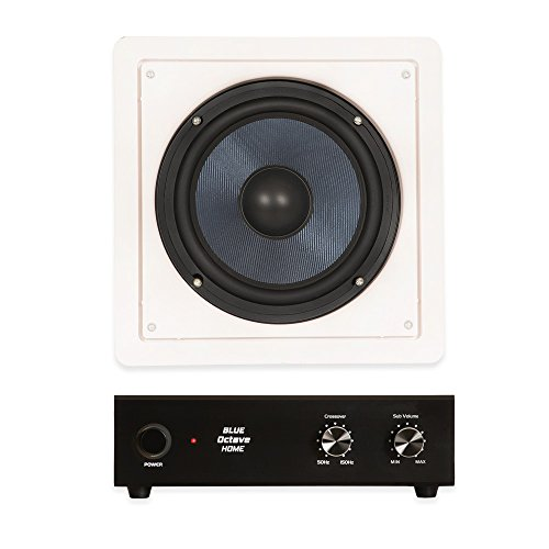 Blue Octave BDW8 In Wall 8'' Passive Subwoofer Speaker and Amplifier Home Theater by Blue Octave Home
