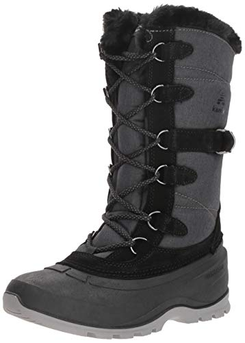 Kamik Women's SNOVALLEY2 Snow Boot, Black, 7 Medium US