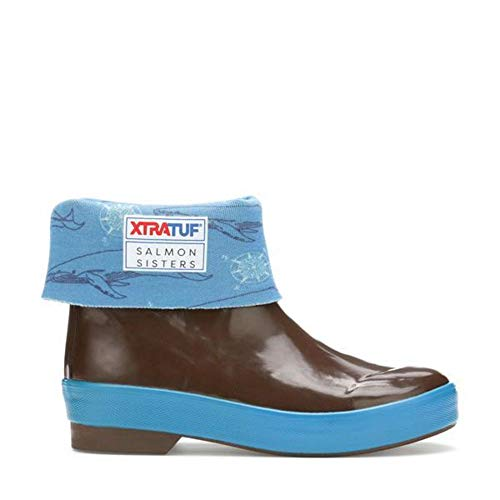 XTRATUF 26681-BRN Salmon Sister Little Kid 8 In Legacy Boot - 8 Kids Boots Inch