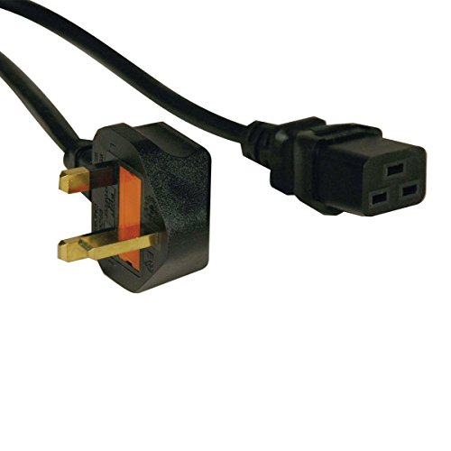 Standard UK Power Cord, 13A (IEC-320-C19 to BS-1363 UK Plug), 8-ft. (P052-008)