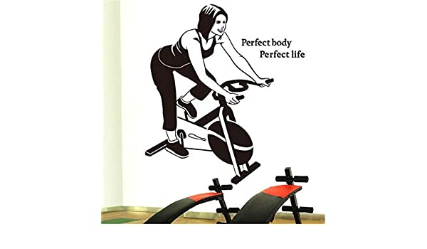 HANHAN Custom Girl Wall Sticker Fitness Center Spinning Sports ...