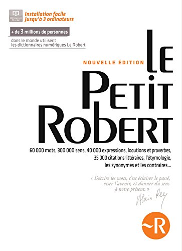 [B.e.s.t] Petit Robert de la Langue Francaise 2014 CD ROM (French Edition) [P.P.T]