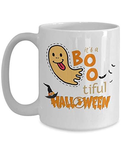 Funny Halloween Gift Mug It's A BooTiful Halloween Themed Coffee Mug Perfect Idea Gift For Dad Mom Son -