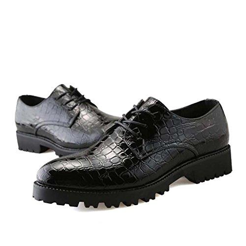 ZXCV Zapatos al aire libre Zapatos de cuero de los hombres, zapatos ocasionales respirables al aire libre Negro
