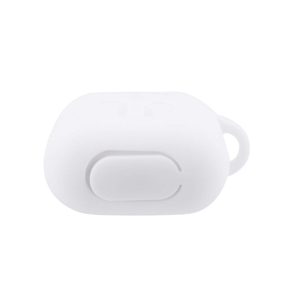 White Afazfa Compatible with Airpods 2/&1 Charging Case Silicone Protective Case and Keychain Pompom Strap
